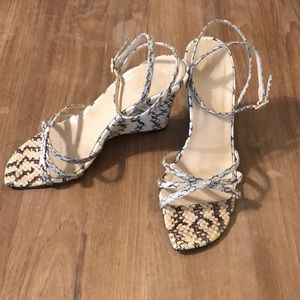KATE SPADE ♠️ • Faux Snakeskin Wedge Sandals